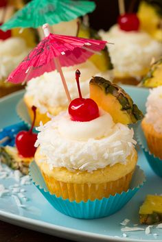 Since summer isn't coming quick enough let's just make these Pina Colada Cupcakes and pretend it's summer. Okay? Great! It's always about this time of year