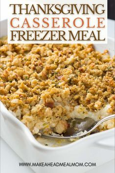 Got more leftovers from your Thanksgiving meal than you know what to do with?? Use them up in this amazing Thanksgiving Casserole freezer meal! It's all the amazing flavors of the big meal, in one easy-to-prep, easy-to-freeze, and easy-to-serve casserole format!! Now you can have Thanksgiving dinner any time of the year, but without all the fuss! :) #freezerfriendly #freezer #makeahead #freezermeals #turkey #thanksgiving #leftovers Thanksgiving Casserole, Thanksgiving Recipes, Winter Recipes, Best Freezer Meals, Make Ahead Meals, Casserole Dishes, Casserole Recipes, 9x13 Baking Dish, Veggie Dishes