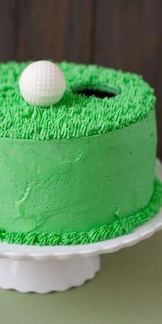 cute cake for a golfer