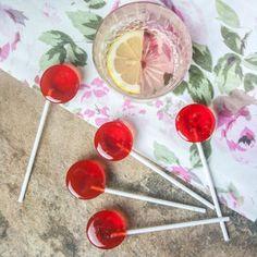Five Boozy Rhubarb Gin Lollipops