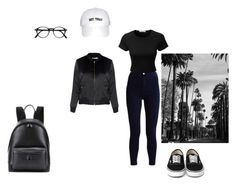 """Street"" by elena-maharea on Polyvore featuring LE3NO, Glamorous, Balenciaga, cool and daily"