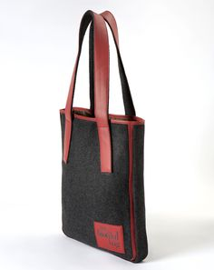 SAC TOTE LAINE BORDEAUX / Nomade Collection / MY BIOTIFUL BAG