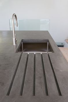 10 Matchless Concrete Countertops For Your Strong Countertops : A concrete counter top is very long lasting and it is also resistant to warm. Below are the ideas of concrete counter tops for you who are looking for several inspirations. Concrete Furniture, Kitchen Furniture, Diy Furniture, Furniture Stores, Urban Furniture, Furniture Online, Furniture Design, Bathroom Furniture, Luxury Furniture