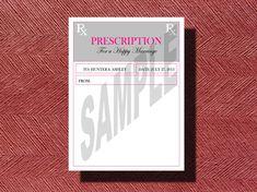 Fun Prescription For A Happy Marriage #wedding #guestbook by WeddingsByJamie, $12.00