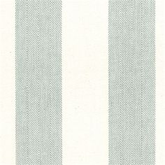 Chatham Stripe Spa Blue and Tan Herringbone Stripe Upholstery Fabric by Roth and Tompkins