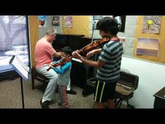 playing impromptu duet with his sidekick; Finished 1st part of Minuet 2 by JS Bach in practice mode, then [his sidekick] had to go home. Not bad for an unplanned duet totally out of the blue. See more of young violinist #son_from_vivlum