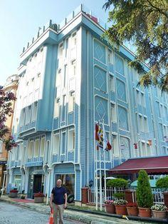 トルコ・イスタンブールの「ブルーハウスホテル」にて。Blue House Hotel in Istanbul, Turkey.