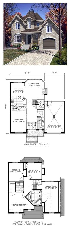 Victorian House Plan 48142 | Total Living Area: 1689 sq. ft., 3 bedrooms and 2 bathrooms. #victorianhome