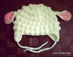 Lamb Hat and Overall Set by PerkyBeanies on Etsy