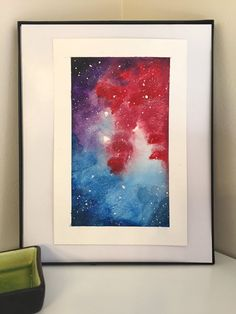 Vibrant Space Series  Original Hand Painted Watercolor by anherron