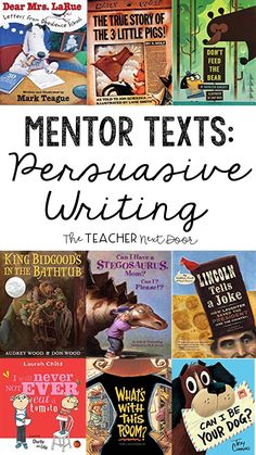 Writing to Persuade Persuasive writing can be challenging for upper elementary students! This post has a step by step strategy for teaching opinion writing in a practical way. Using mentor texts to teach persuasive writing is one of the teaching tools. Writing Mentor Texts, Narrative Writing, Opinion Writing, Persuasive Writing, Writing Lessons, Paragraph Writing, Writing Rubrics, Math Lessons, Writing Tips