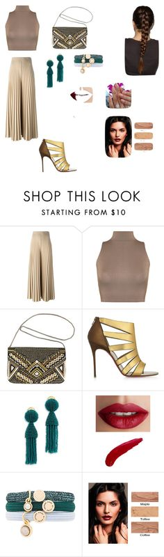 """""""Untitled #235"""" by paulamodeloguapa-1 ❤ liked on Polyvore featuring Givenchy, WearAll, Avenue, Christian Louboutin, Oscar de la Renta, TheBalm and Marc by Marc Jacobs"""