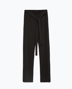 Image 8 of from Zara Wide Trousers, Pantalon Large, Back To Work, Zara United States, New Week, Ss 15, Belts For Women, Pajama Pants, Sweatpants