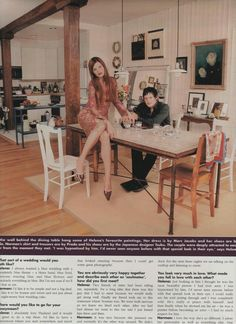 "The ""it"" couple back in the day/simply stunning magazine layout, etc."