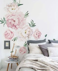 Springtime is peak season for peonies, but keep them blooming all year-long with our Peony Flowers Wall Sticker. The contemporary design and color palette of this wall sticker complements modern spaces and updates more traditional decor. This Wall Sticker makes a bold and elegant statement alone, but can also refresh an accent wall or add a bright wash of color to an existing collection of art and photographs. [Size] 6 Separate peonies ranging in size from 14w x 14h to 26w x 30h 22 Separate…