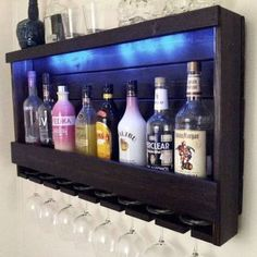rustic 6 bottle wine rack with 4 glass slot holder and top. Black Bedroom Furniture Sets. Home Design Ideas