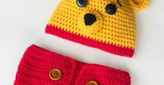 Winnie The Pooh Inspired Hat & Diaper Cover - Free Crochet Pattern | Winnie The Pooh, Diaper Covers and Diapers