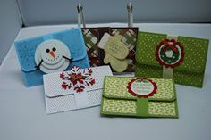 Tracy's Card Closet: Tons of gift card holders... great pictures, but no tutorial or instructions