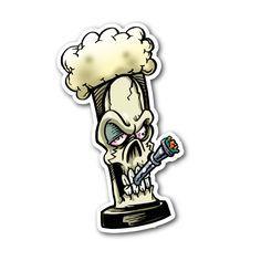 Stoned Bong Skull Sticker | Vinyl Stickers | Marijuana Stickers | Clear Stickers Marijuana Art, Medical Marijuana, Stoner Art, Weed Art, Clear Stickers, Bongs, Sticker Vinyl, Graffiti Art, Graphic Design Illustration