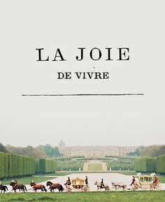 of gardens & fountains and la joie de vivre