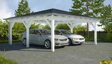 NEU Premium Walmdach Carport 6.00 x 6.00 Unterstand Carports ab Werk