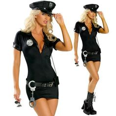 Halloween Costumes For Women Police Cosplay Costume Dress