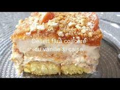 Desert FARA COACERE - cu Vanilie si Caise - YouTube Krispie Treats, Rice Krispies, Biscuit, Tutorials, Cooking, Desserts, Youtube, Recipes, Food
