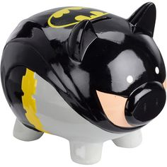 Batman Piggy Bank- Who wouldn't want this? Description from pinterest.com. I searched for this on bing.com/images