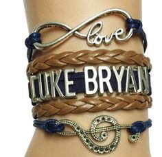 Do you love Luke Bryan? Do you want to show it every day? Now you can when you wear this wonderful bracelet. - Leather Roped Bracelet With Lobster Clasp - Limited Stock Available! - Not Sold in Stores