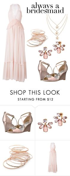 """Always A Bridesmaid #3"" by adriana4-life on Polyvore featuring Badgley Mischka, Marchesa, Red Camel and Givenchy"
