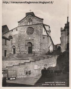 Genova - Chiesa di Santo Stefano prima della costruzione di via XX Settembre