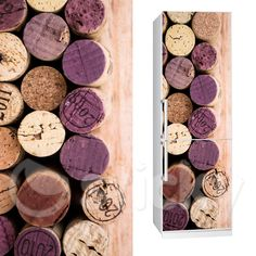 Fabric Fridgy sticker WINE by Sticky! Corks, Wine, Stickers, Kitchen, Fabric, Baking Center, Tejido, Cooking, Tela