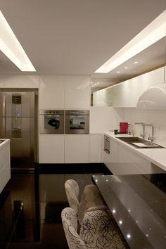 Cozinha branca super clean
