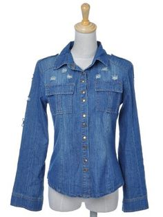 Anna-Kaci S/M Fit Dark Blue Denim Everyday Casual Wear Roll Up Sleeve Jacket Anna-Kaci. $19.00
