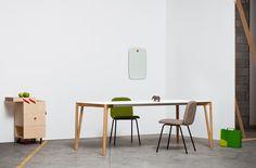 Leda chair, Opè trolley with Decapo table, by Miniforms; www.miniforms.euhttp://decdesignecasa.blogspot.it/