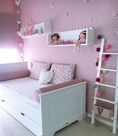Another beautiful room for a girl, sweet, sweet, we make you yours? Small Room Bedroom, Baby Bedroom, Baby Room Decor, Bedroom Colors, Girls Bedroom, Bedroom Decor, Deco Kids, Girl Bedroom Designs, Little Girl Rooms