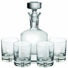 Ravenscroft Crystal Taylor Double Old Fashioned Decanter Set This attractive lead-free crystal decanter set, handcrafted in Europe, captures the essence of a Apartment Warming Gifts, Good Whiskey, Whiskey Gifts, Whiskey Decanter, Crystal Decanter, Carafe, Like4like, Pure Products, Crystals