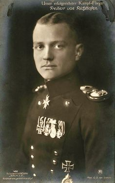 Manfred von Richthofen was Germany's most famous fighter ace of World War One. Richthofen was nicknamed the 'Red Baron.' He officially shot down 80 Allied aircraft, more than any other pilot during World War One. Baron Von Richthofen, Manfred Von Richthofen, World War One, First World, Flying Ace, Morris, Vintage Airplanes, Fighter Pilot, German Army