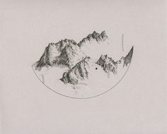 Mountains, drawing, montagne, france,