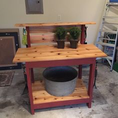 Cedar Potting Bench by RaleighReclaimed on Etsy