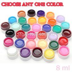High Quality Gel Nail Polish uv nail for Choose UV lamp UV Gel 8ml Solid color gel nail art