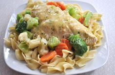 Creamy Chicken Skillet-This just makes your stomach feel good when you eat it.