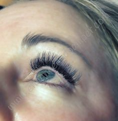 Volume lashes on Becky