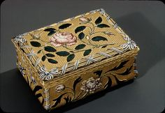 Snuffbox Maker: Jean Moynat (master 1745, died 1761) Date: 1747–49 Culture: French, Paris  Medium: Gold, enamel