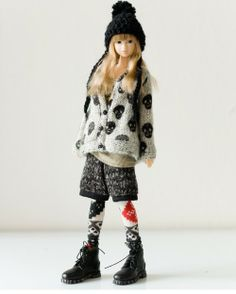 SugarBabyLove - Skull Cardigan set for Momoko - doll outfit