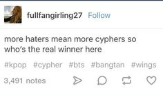 More haters more cyphers Who's the real winner