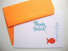 Goldfish Thank You Cards Thanks a Bunch by papergirlstudios, $14.00