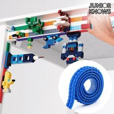 With the Magic Junior Knows yellow adhesive building tape, the fans of building block games can let their imaginations soar! An original and Building Block Games, Lego Building, Magic Sand, Experiential Learning, Wooden Car, Construction, Wooden Animals, Puzzles For Kids, Home Furniture