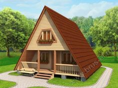 House By The Sea, House In The Woods, Small Farmhouse Plans, Forest House, Good House, Style At Home, Home Fashion, Beautiful Homes, House Design