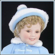 """Shirley Temple 18"""" Toddler Doll Collection 1987 Danbury Mint Limited Edition Porcelain In Her Sunday Best Original Box  SOLD"""